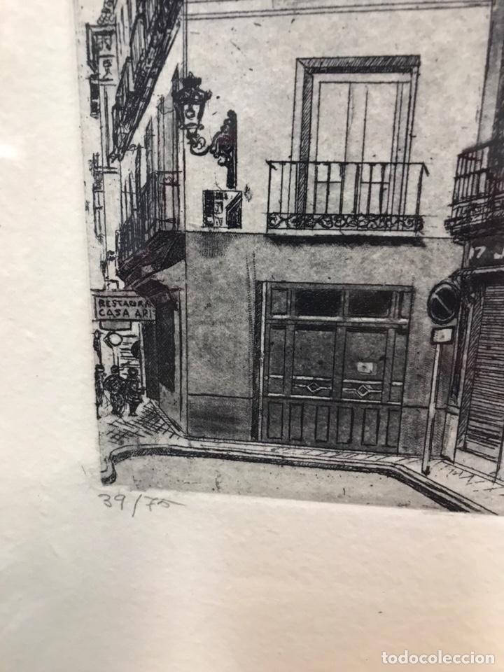 Arte: Posada del Peine (Madrid) grabado AMALIA AVIA - Foto 3 - 195063417