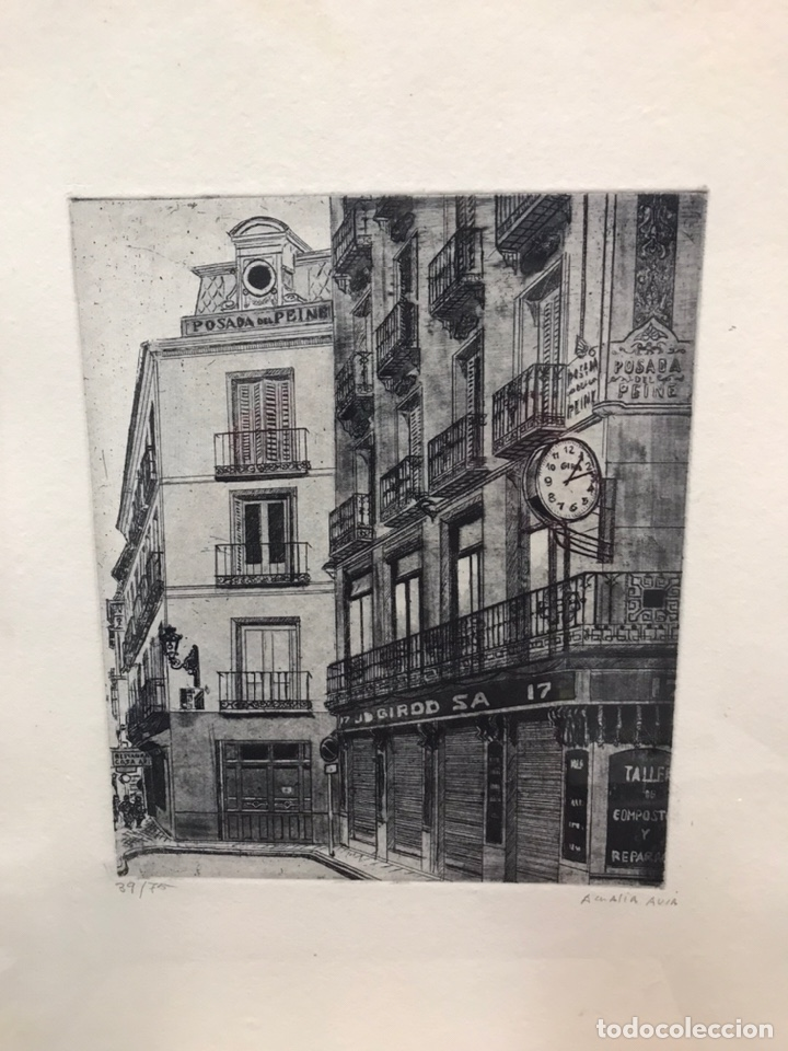 POSADA DEL PEINE (MADRID) GRABADO AMALIA AVIA (Arte - Grabados - Contemporáneos siglo XX)