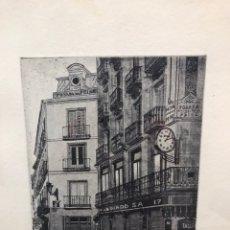 Arte: POSADA DEL PEINE (MADRID) GRABADO AMALIA AVIA. Lote 195063417