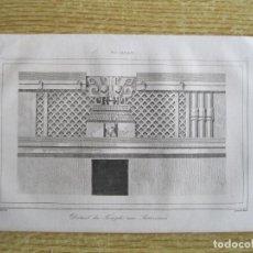 Arte: ARTE MAYA. FACHADA DEL TEMPLO DE LOS ASTERISMOS (YUCATÁN, MÉXICO), CA. 1825. GAUCHEREL/LEMAITRE. Lote 195084178