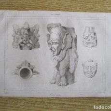 Arte: ARTE MAYA. ESCULTURAS DE FIERAS (YUCATÁN, MÉXICO), HACIA1825. GAUCHEREL/LEMAITRE. Lote 195085505
