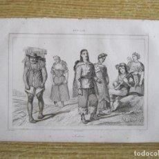 Arte: INDÍGENAS DE MÉXICO, HACIA 1825. VERNET/MONIN/LEMAITRE. Lote 195086342