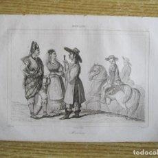 Arte: GRUPOS DE HABITANTES DE MÉXICO, HACIA 1825. VERNET/LEMAITRE/CHAILLOT. Lote 195089006