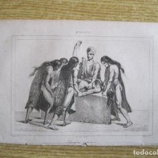 Arte: RITUAL DE SACRIFICIO AZTECA (MÉXICO), HACIA 1825. VERNIER/LEMAITRE/MONNIN. Lote 195090218