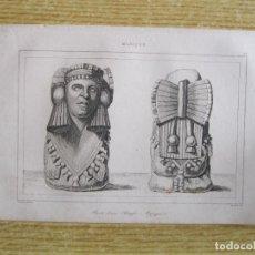 Arte: ESCULTURA AZTEZA (MÉXICO). ANVERSO Y REVERSO, HACIA 1825. LEMAITRE /MONNIN. Lote 195090956