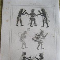 Arte: EDUCACIÓN AZTECA (MÉXICO), HACIA 1825. CHALAMEL/LEMAITRE /MONNIN. Lote 195092662