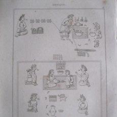 Arte: CELEBRACIÓN DE MATRIMONIO Y NACIMIENTO AZTECA (MÉXICO), CA.1825. CHALAMEL/BIGANT. Lote 195093231