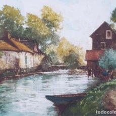 Arte: INCREÍBLE GRABADO ORIGINAL FIRMADO DEL ARTISTA FRANCÉS PAUL EMILE LECOMTE (1877-1950). Lote 195114440