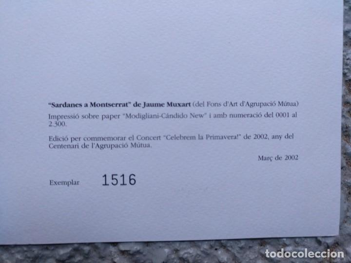 Arte: SARDANES A MONTSERRAT DE JAUME MUXART EJEMPLAR Nº 1.516 (DE 2.300) AÑO 2002. 33 X 23 CM (APROX) - Foto 2 - 195192690
