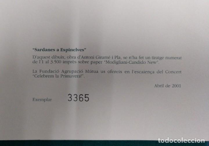 Arte: SARDANES A ESPINELVES DIBUJO ANTONIO GIRAME PLA EJEMPLAR Nº 3.365 (DE 3.500) AÑO 2001. 33 X 23 CM - Foto 2 - 195192755