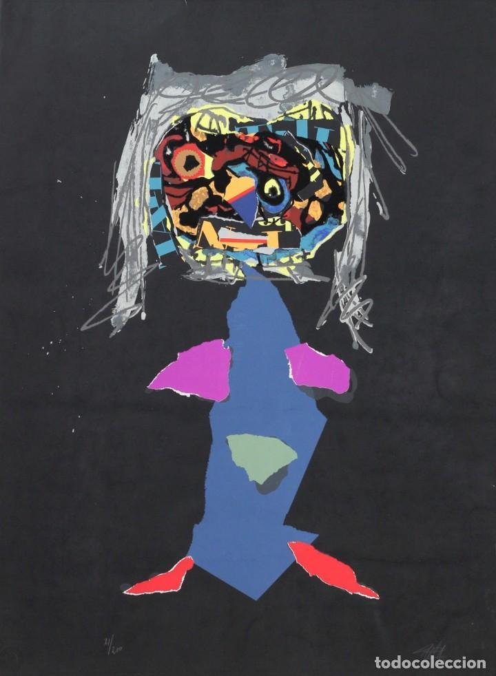 ANTONIO SAURA- SERIGRAFIA FIRMADA Y NUMERADA A MANO POR EL ARTISTA -CHARACTER -1971 (Arte - Grabados - Contemporáneos siglo XX)