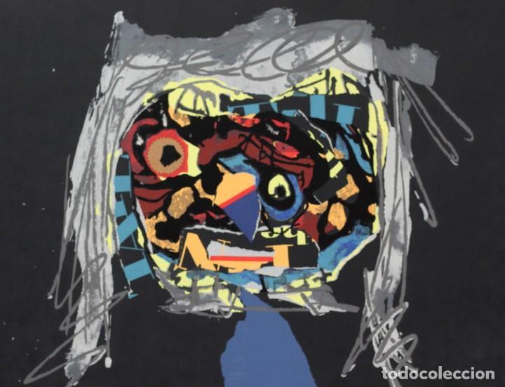 Arte: ANTONIO SAURA- Serigrafia firmada y numerada a mano por el artista -Character -1971 - Foto 2 - 195196945