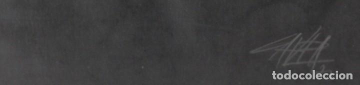 Arte: ANTONIO SAURA- Serigrafia firmada y numerada a mano por el artista -Character -1971 - Foto 3 - 195196945