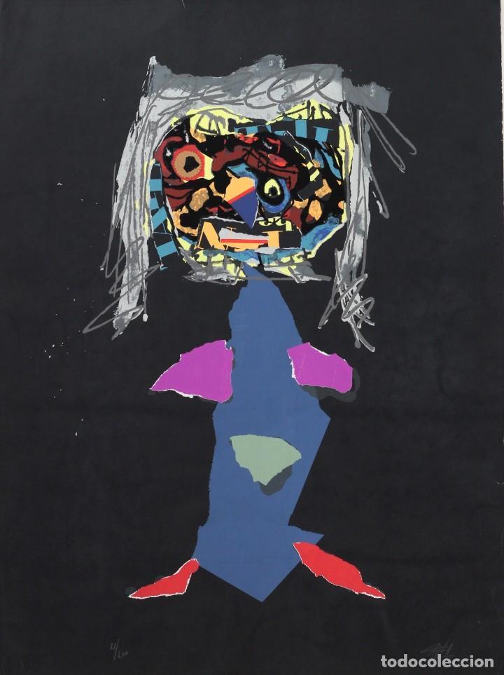 Arte: ANTONIO SAURA- Serigrafia firmada y numerada a mano por el artista -Character -1971 - Foto 5 - 195196945