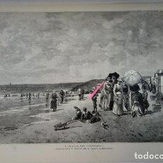 Arte: A ORILLAS DEL CANTÁBRICO. COMPOSICIÓN Y DIBUJO DE TOMÁS CAMPUZANO.. Lote 195199718