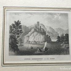 Arte: CASTILLO DE HECKERDORF EN BAVIERA (ALEMANIA), HACIA 1840. , BIBLIOGRAPH. INSTITUT IN HIDBURGHANSEN. Lote 195226901