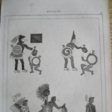 Arte: GUERREROS AZTECAS (MÉXICO), 1825. LEMAITRE. Lote 195236658