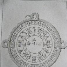 Arte: REPRESENTACIÓN ANTIGUA DE UN CALENDARIO AZTECA (MÉXICO), 1825. LEMAITRE. Lote 195236793