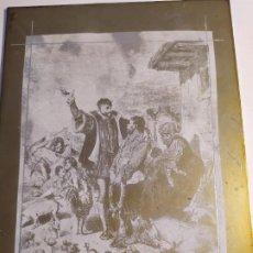 Arte: PLANCHA COBRE,ESCENA DEL QUIJOTE.. Lote 195259695