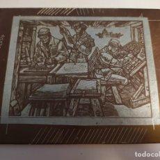 Arte: PLANCHA DE COBRE ANTIGUA IMPRENTA DE LIBROS. Lote 195259881
