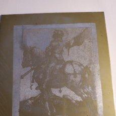 Arte: PLANCHA COBRE ESCENA DEL QUIJOTE . Lote 195260098