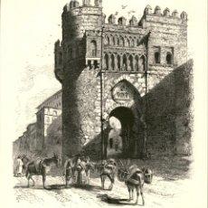 Arte: ORIGINAL 1860 - TOLEDO - PUERTA DEL SOL - PICTURESQUE EUROPE. Lote 195267988