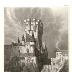 Arte: ORIGINAL 1840 - SEGOVIA - ALCAZAR - I.G. MARTINI - VERLEGER. Lote 195269027