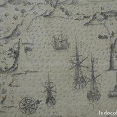 Arte: VISTA DEL PUERTO Y BAHIA DE RIO DE JANEIRO (BRASIL), 1655. MERIAN/DE BRY/GOTTFRIED. Lote 195275178