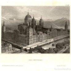 Arte: ORIGINAL 1835 - MADRID - EL ESCORIAL - ESPAÑA - XILOGRAFIA ALEMANA - VERLEGER. Lote 195279768