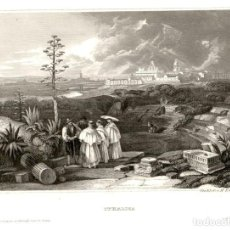 Arte: ORIGINAL - 1841 - ITALICA SEVILLA - ESPAÑA - XILOGRAFIA ALEMANA - VERLEGER. Lote 195280213