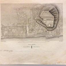 Arte: PLANO DE DENIA, MOULINIER Y VICQ, DE LABORDE 1811 ALICANTE. Lote 195315477