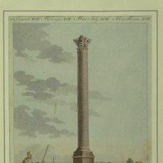 Arte: PILAR ROMANO DEL GENERAL POMPEYO EN ALEJANDRÍA (EGIPTO), HACIA 1805). F. BERTUCH. Lote 195316853