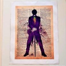 Arte: THE JOKER BONITO GRABADO TIPO BANKSY SOBRE ACRILICO ARTE POP - 49 X 37.CM. Lote 195327567