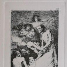Arte: GOYA,LOS CAPRICHOS N.69 Y AUN NO SE VAN,AGUAFUERTE ORIGINAL DIRECTO DE PLANCHA CON CERTIFICADO. Lote 212764038