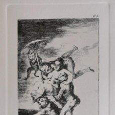Arte: GOYA,LOS CAPRICHOS N.65 DONDE VA MAMA,AGUAFUERTE ORIGINAL DIRECTO DE PLANCHA CON CERTIFICADO. Lote 210585253