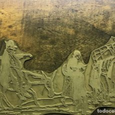 Arte: PLANCHA DE ZINC PARA GRABADO. XAVIER NOGUÉS. Lote 195366971