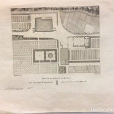 Arte: PLANO DE LOS BAÑOS DE ALHANGE, MOULINIER Y VIC. DE LABORDE 1811. Lote 195368076