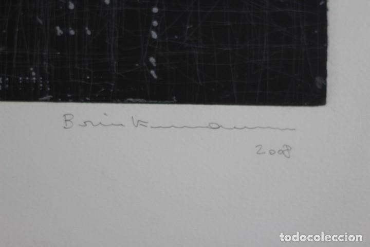 Arte: ENRIQUE BRINKMANN. 105x75 cm -Grabado Aguafuerte firmado y numerado a mano por el artista - - Foto 3 - 195380692