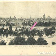 Arte: VALENCIA. VISTA PARCIAL DE LA CIUDAD TOMADA DESDE LA ALAMEDA.. Lote 195392452