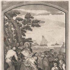 Arte: GRABADO PLANCHA DE COBRE DE 1760, LA MULTIPLICACIÓN DE PANES Y PECES, JOHANN JAKOB SARTOR, INFOLIO. Lote 195416825