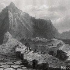 Arte: GRABADO AL ACERO DE 1873, VISTA DE LA CALZADA DE LOS GIGANTES. DIBUJO DE W. H, BARTLETT, GR. WALLIS. Lote 195418662