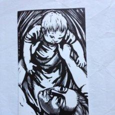 Arte: TARJETA DE FELICITACIÓN CON GRABADO DE MARÍA JOSEFA COLOM, 1979. MADRE NIÑO. Lote 195420913