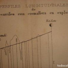 Arte: GRABADO TECNOLOGÍA, SIGLO XIX, FERROCARRILES CON CREMALLERA EN EXPLOTACIÓN, ORIGINAL, MADRID, 1879.. Lote 195470285