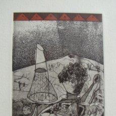 Arte: GRABADO DE ANA ARAGÜES. AGUAFUERTE DEL AÑO 1992.. Lote 195472415