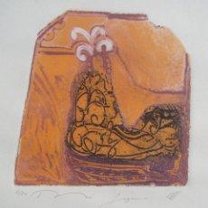 Arte: GRABADO DE RASHID DIAS. AGUAFUERTE DEL AÑO 1992.. Lote 195472703