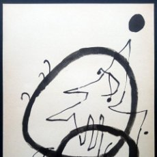 Arte: LITOGRAFÍA JOAN MIRÓ - ELS TRES JOANS 1975. Lote 195486497