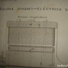 Arte: GRABADO TECNOLOGÍA, SIGLO XIX, MÁQUINA DINAMO-ELÉCTRICA DE GRAMME ORIGINAL, MADRID, 1879.. Lote 195501253
