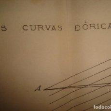 Arte: GRABADO TECNOLOGÍA, SIGLO XIX, CURVAS DÓRICAS, ILUSIONES OPTICAS, ORIGINAL, MADRID, 1879.. Lote 195502577