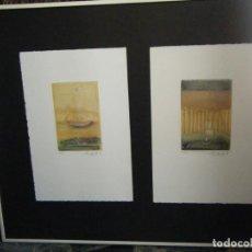 Arte: SEIS GRABADOS ENMARCADOS. AUTOR: PACO AGUILAR. Lote 195507640