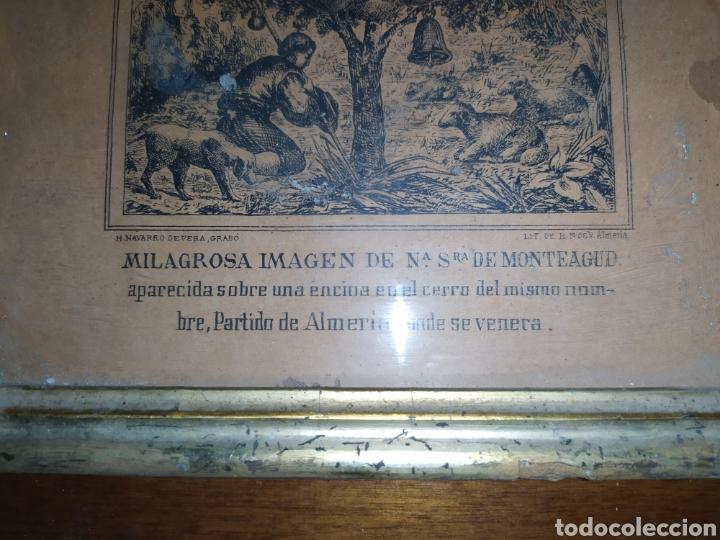 Arte: Grabado Milagrosa imagen de Nª Sra. De Monteagud. H. Navarro de Vera Almería. - Foto 2 - 195530080